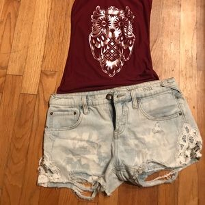 ☀️Free People Distressed Shorts